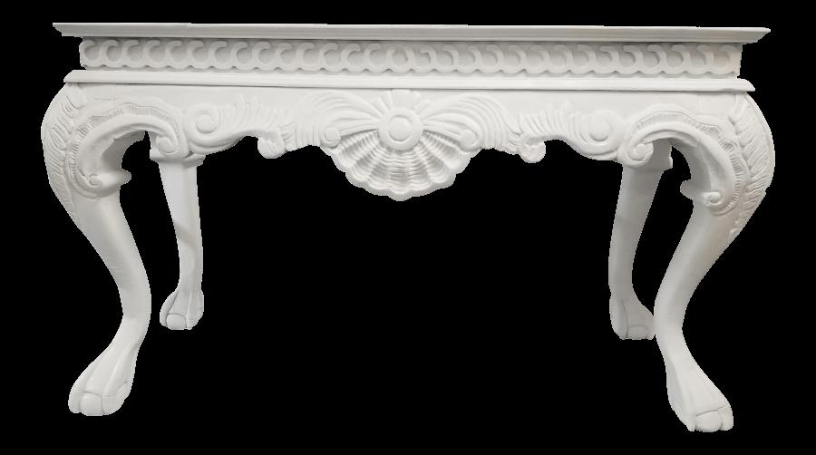 Italian Baroque White Table | Uniquely Chic Vintage Rentals