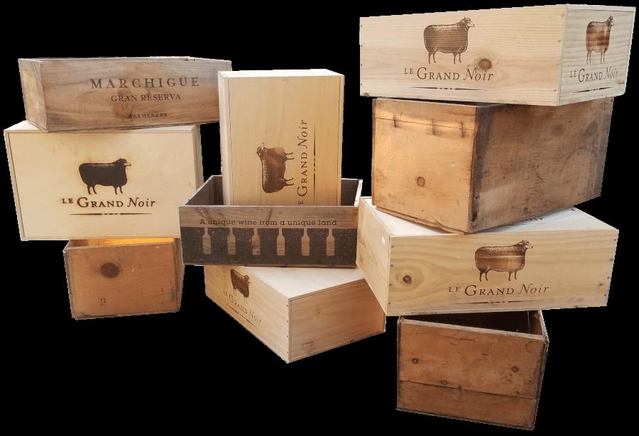 Miscellaneous Wine Crates | Uniquely Chic Vintage Rentals