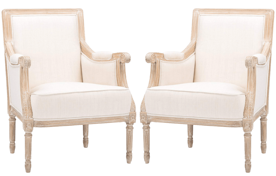 Ivory Linen Natural Lounge Chairs | Uniquely Chic Vintage Rentals
