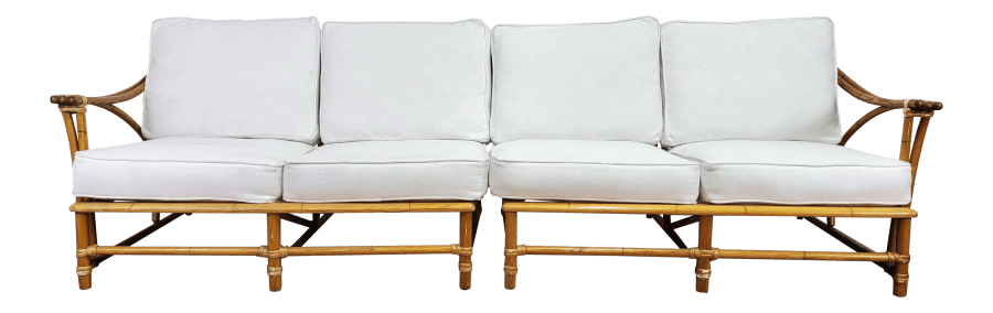 Bamboo Couch or Loveseat Set | Uniquely Chic Vintage Rentals