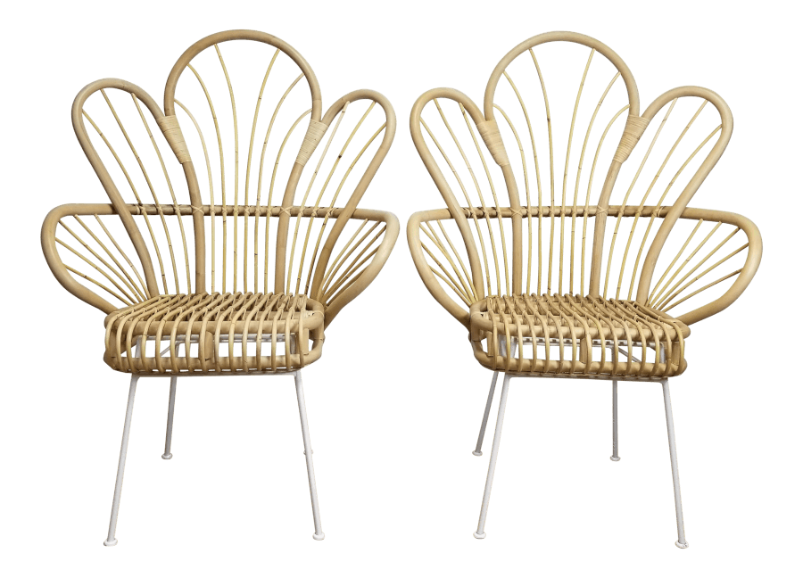 Rattan Fan Back Peacock Chairs | Uniquely Chic Vintage Rentals