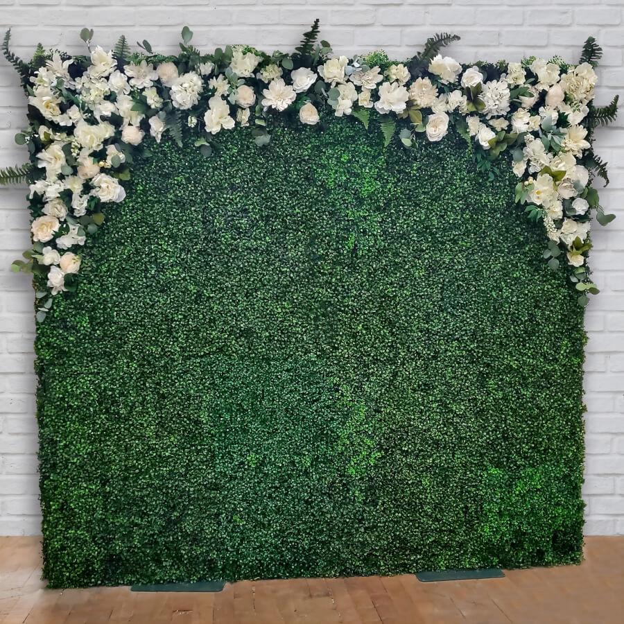 Romantic Boxwood Wall