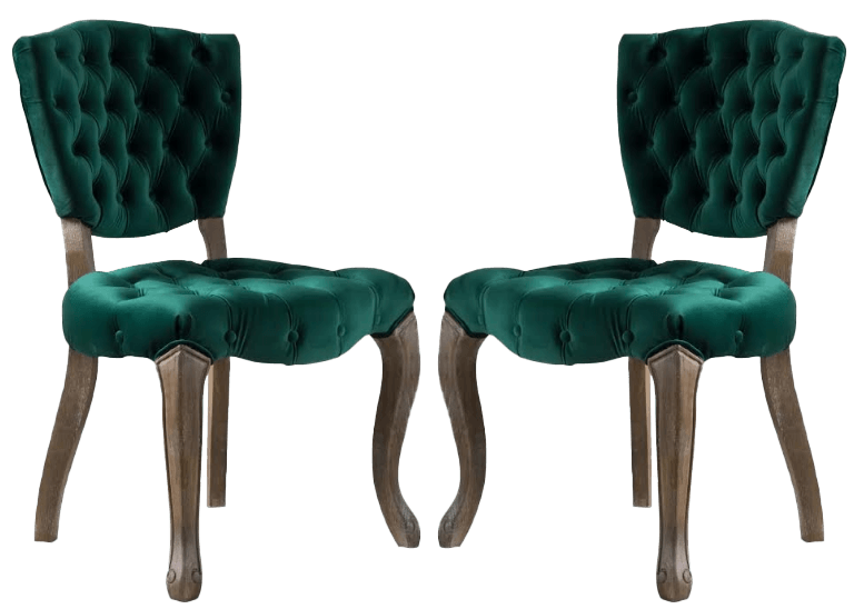Green Velvet Accent Chairs | Uniquely Chic Vintage Rentals