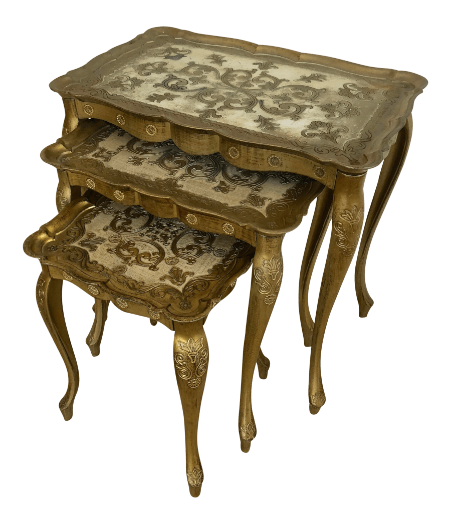 Italian Gold Nesting Tables