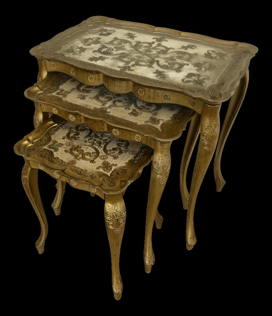 Italian Gold Nesting Tables