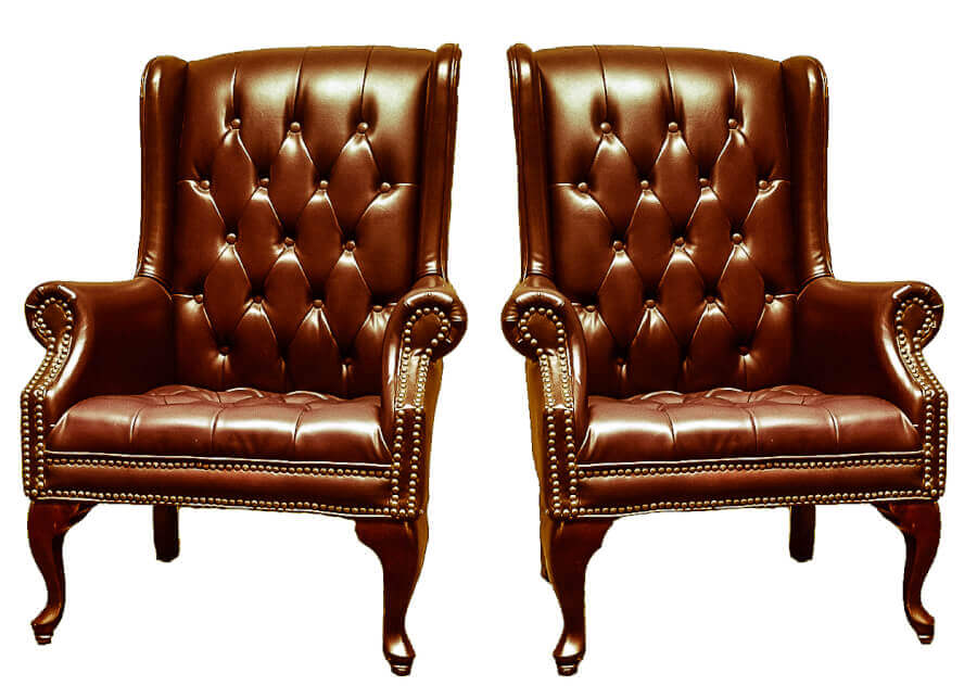 Brown Leather Wingback Chairs