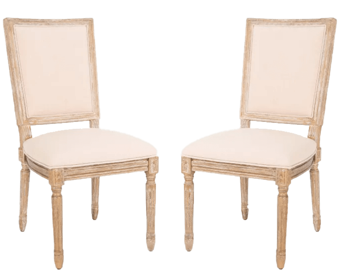 Ivory Linen Natural Chairs | Uniquely Chic Vintage Rentals