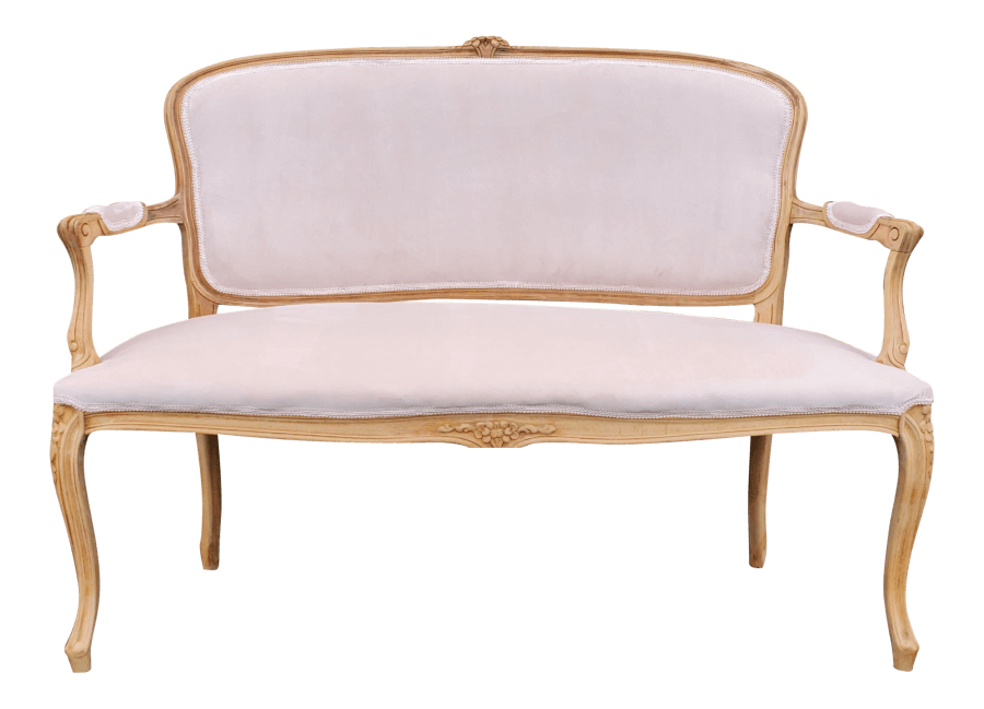Vintage French Blush Pink Settee