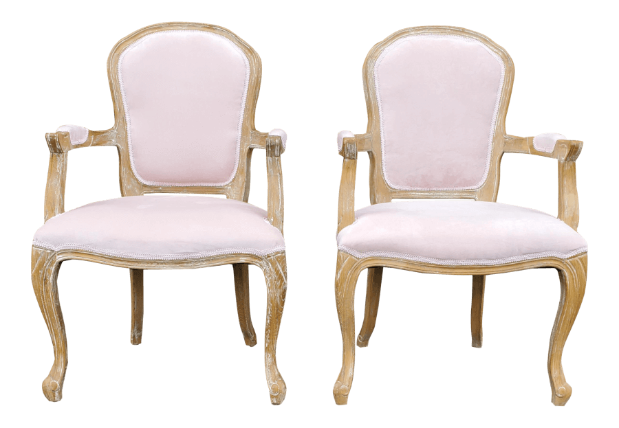Vintage French Blush Pink Chairs