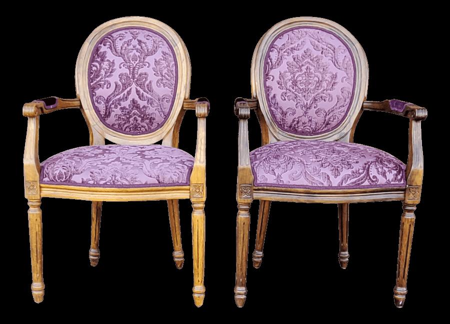 Purple Velvet Chairs