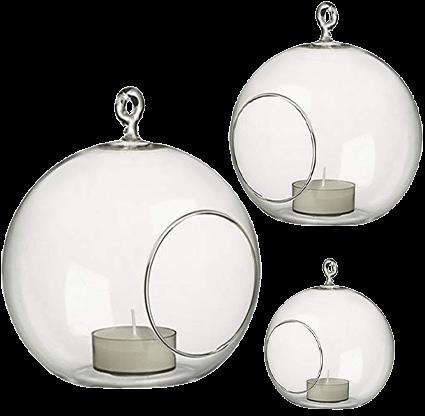 Glass Hanging Votive Candle Globes | Uniquely Chic Vintage Rentals