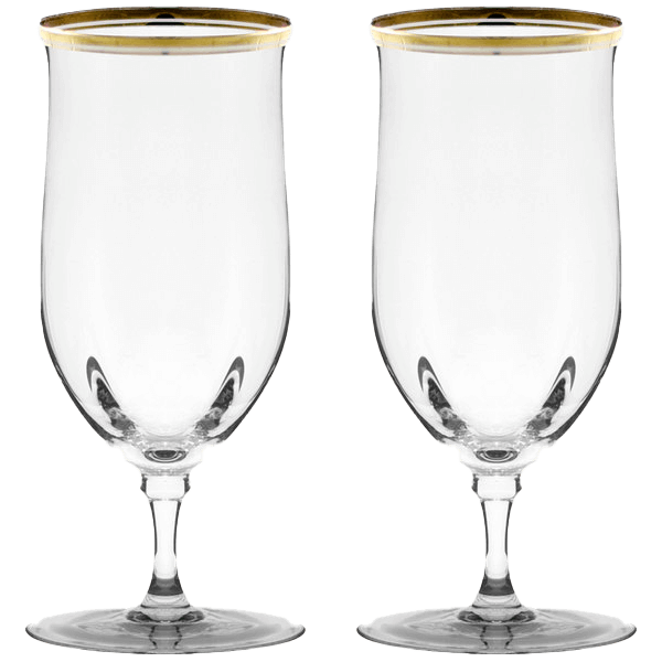 Gold Rimmed Water Glasses | Uniquely Chic Vintage Rentals
