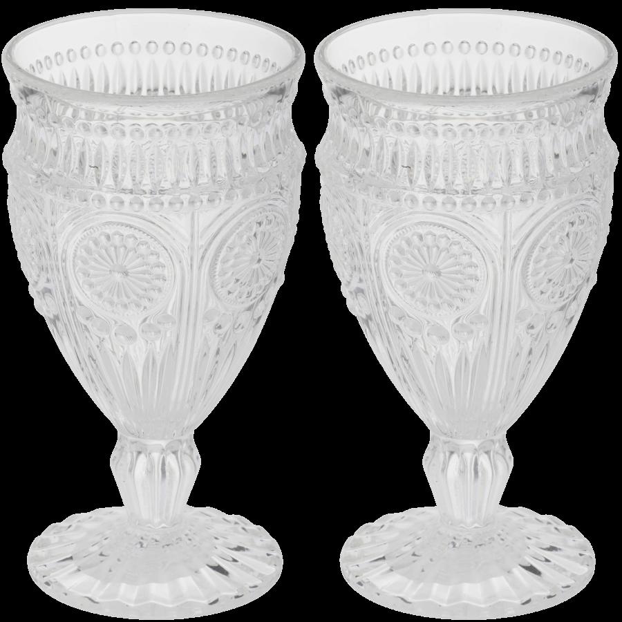 Clear Crystal Vintage Goblets | Uniquely Chic Vintage Rentals