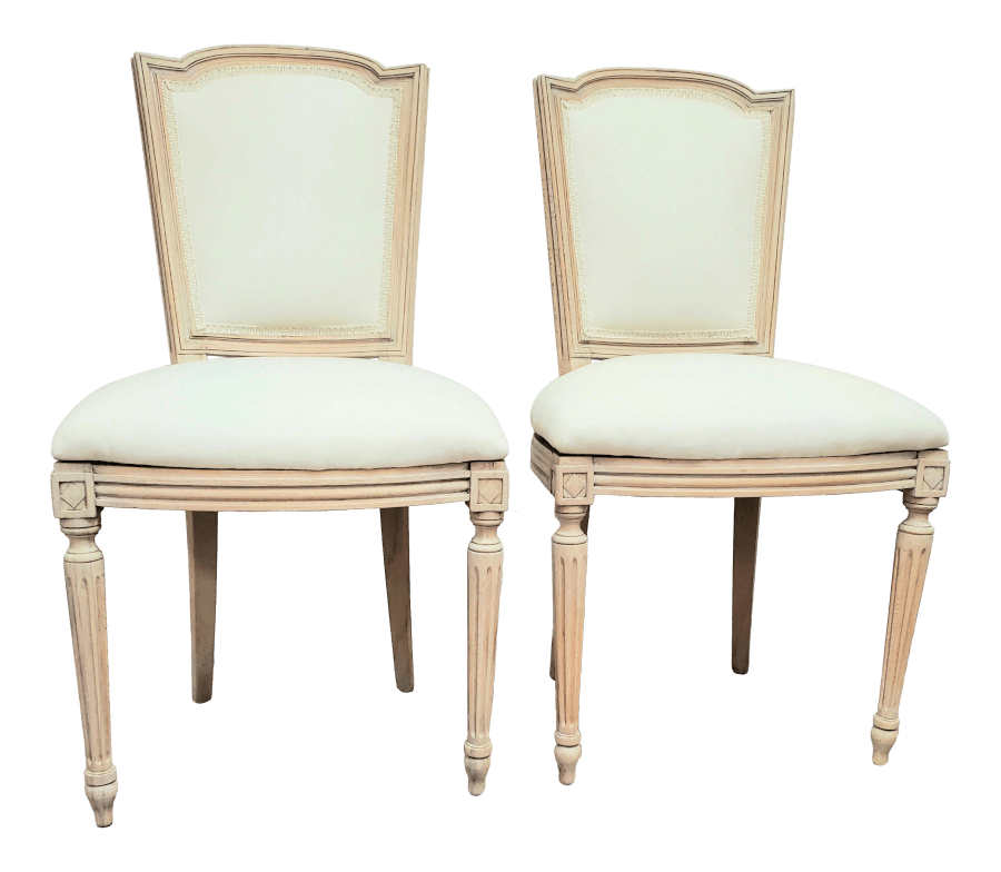 Natural Wood Ivory Chairs