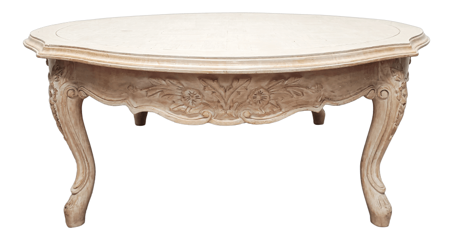 French Natural Wood Coffee Table
