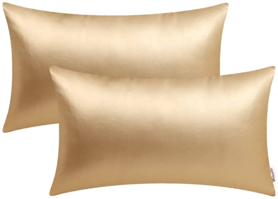 Gold Lumbar Accent Pillows