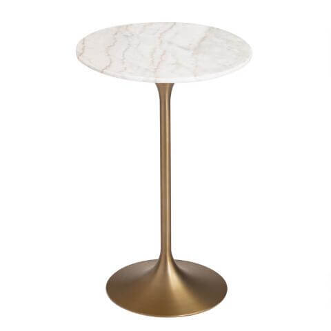Gold Marble Cocktail Table