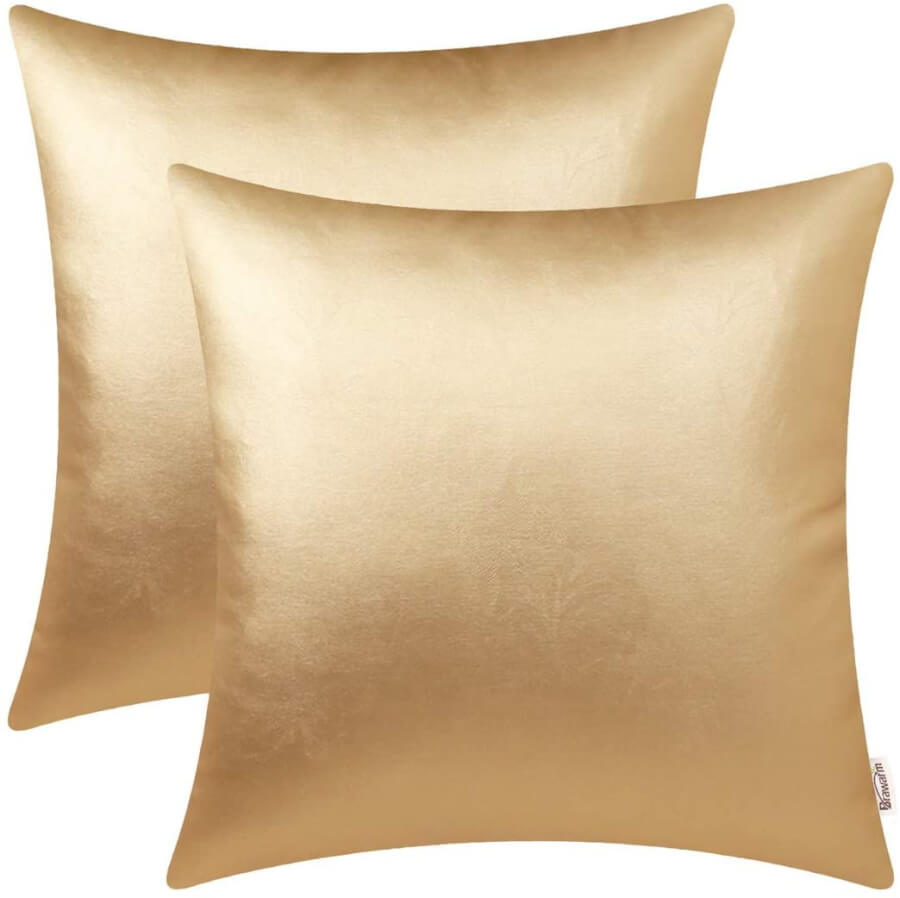 Gold Accent Throw Pillows