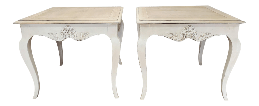 Natural Wood Ivory End Tables