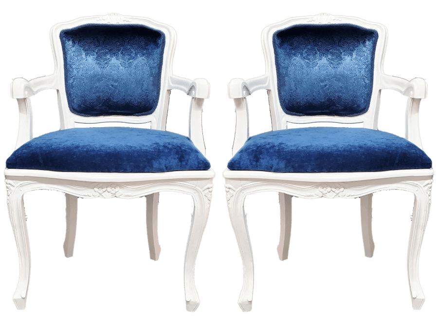 White and Blue Chairs