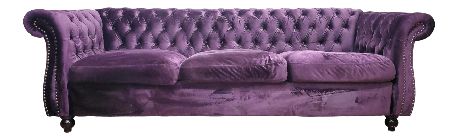Vintage Purple Velvet Couch