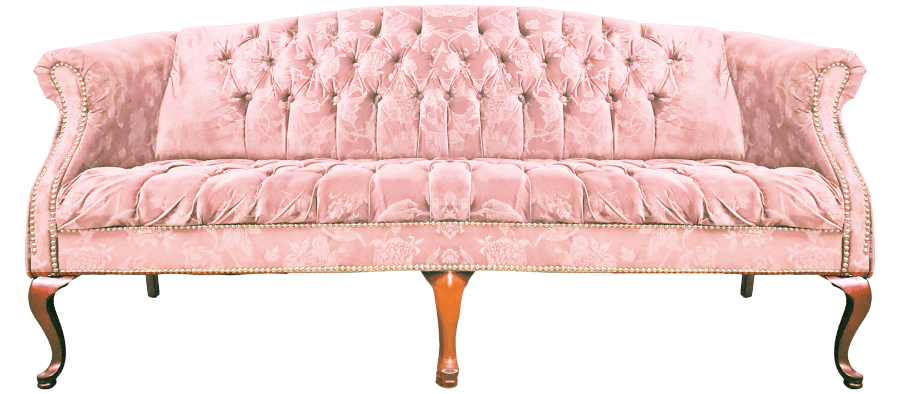 Blush Pink Vintage Couch