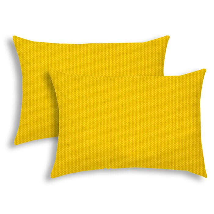 Bright Yellow Lumbar Pillows