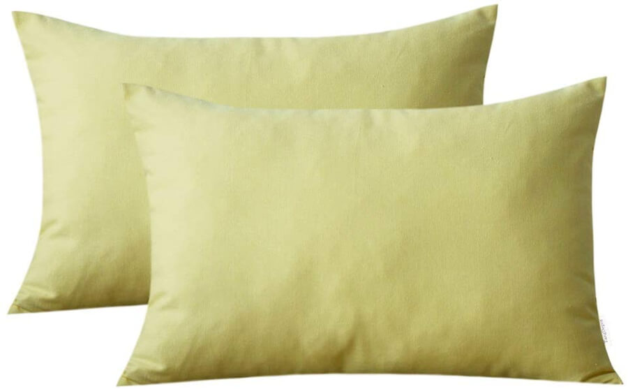 Light Yellow Accent Pillows