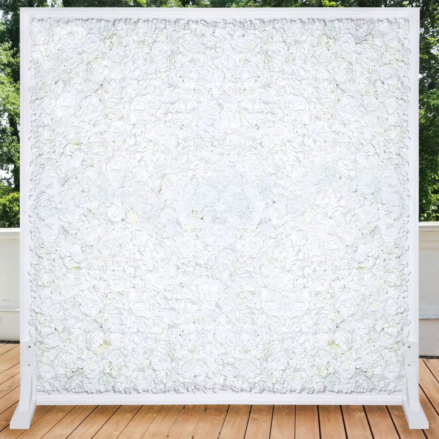 All White Flower Wall
