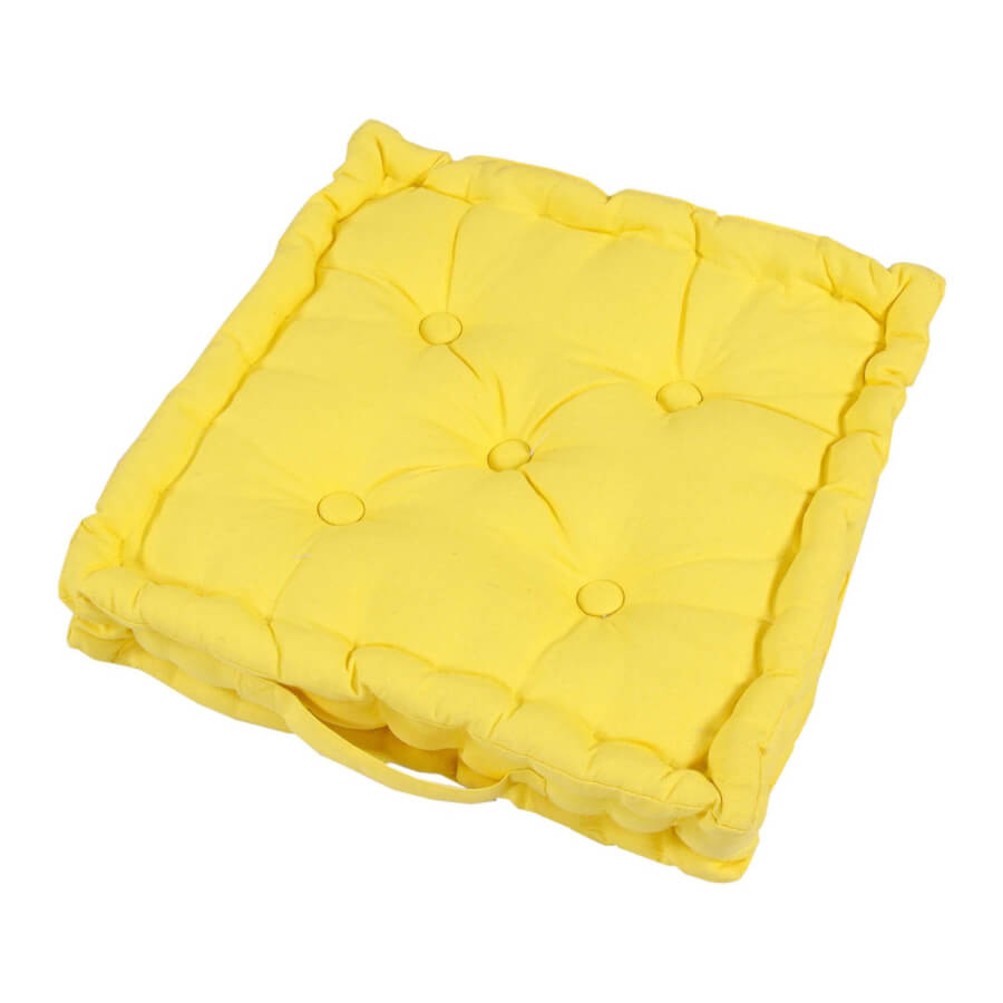 Yellow Square Floor Pillow