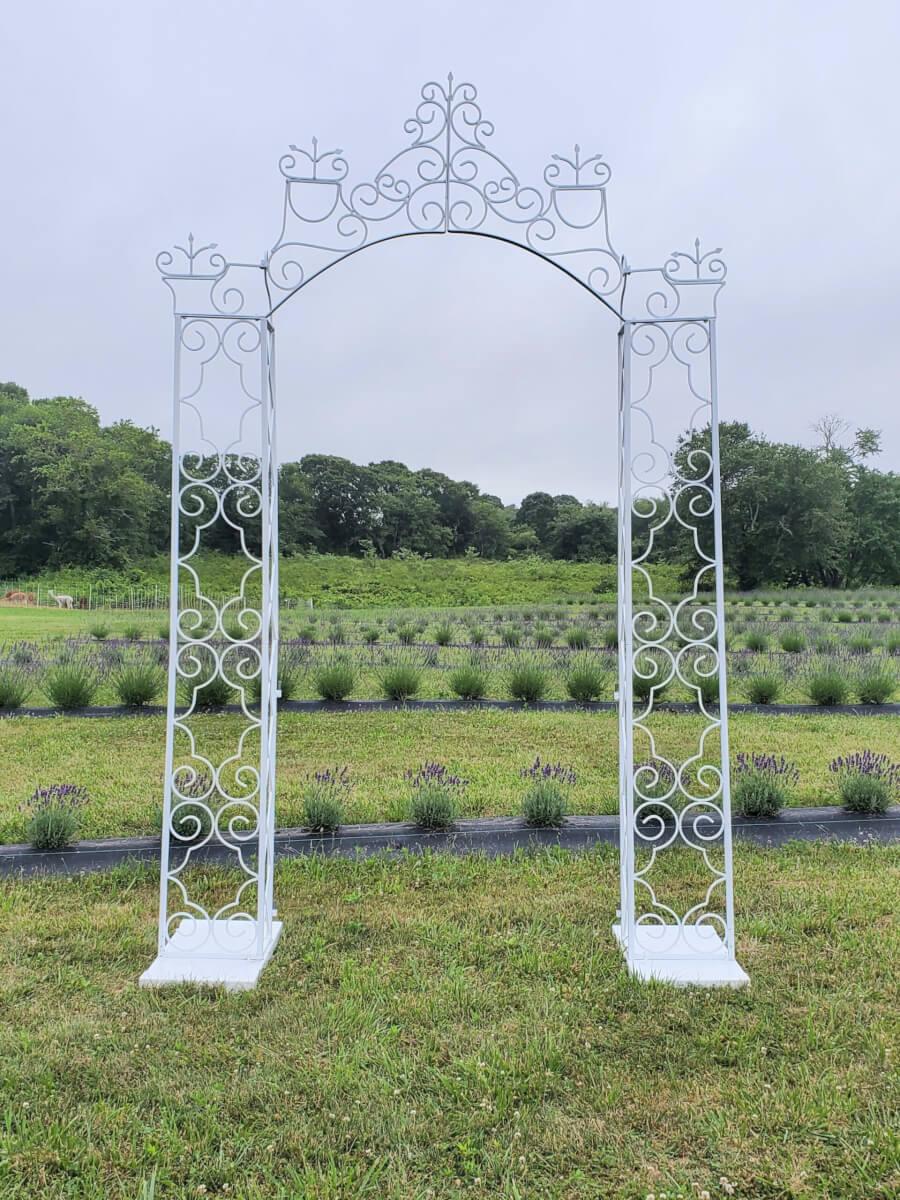 Victorian White Garden Arbor