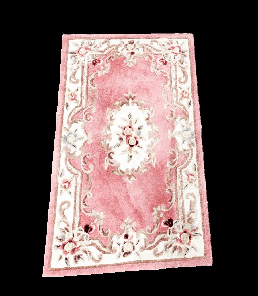 Vintage Pink Floral Rug