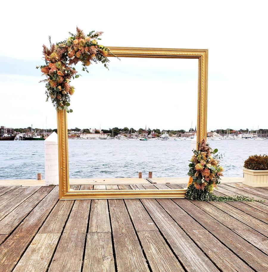 Gold Frame Wedding Arbor
