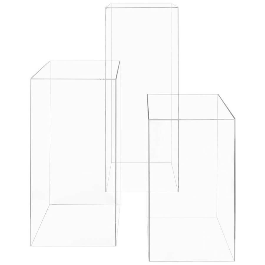 Clear Lucite Rectangle Pedestals