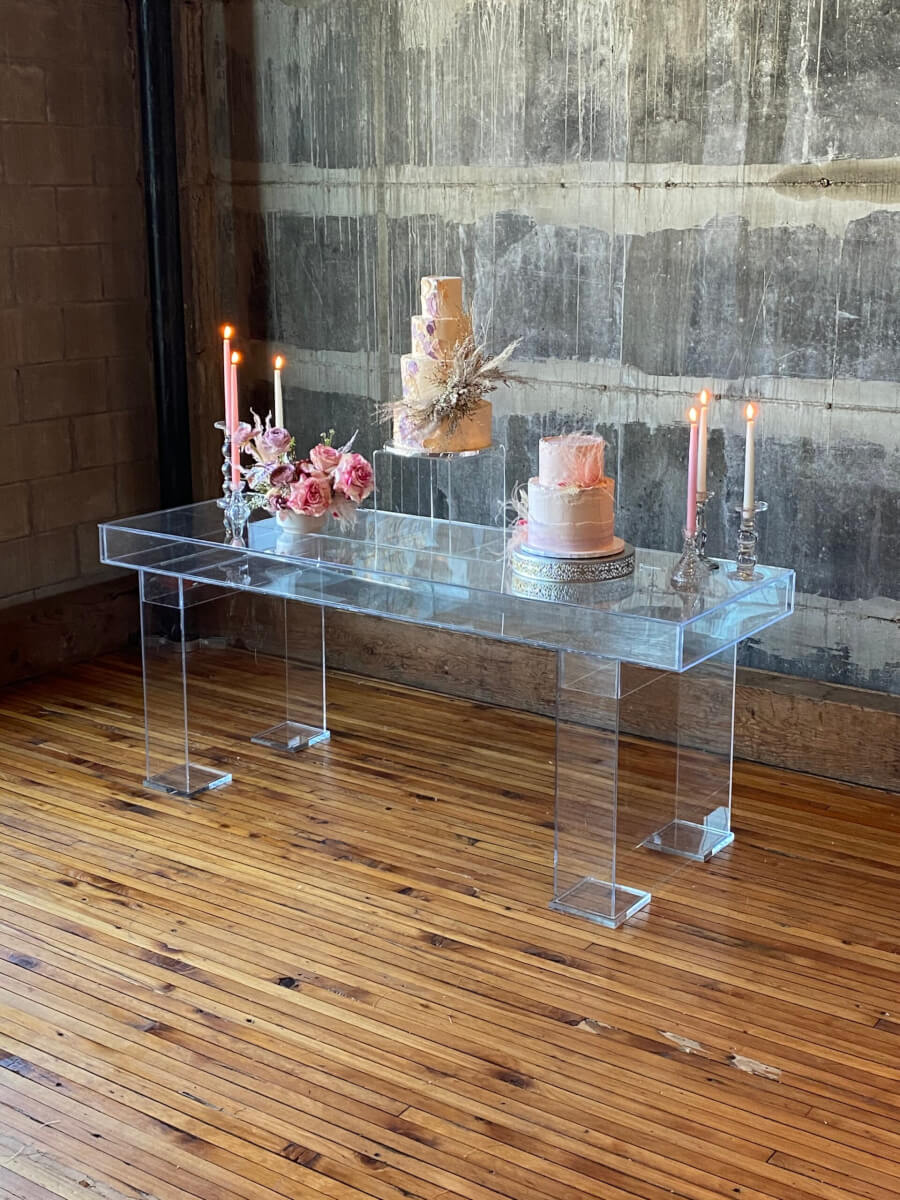 Lucite Sweetheart Table