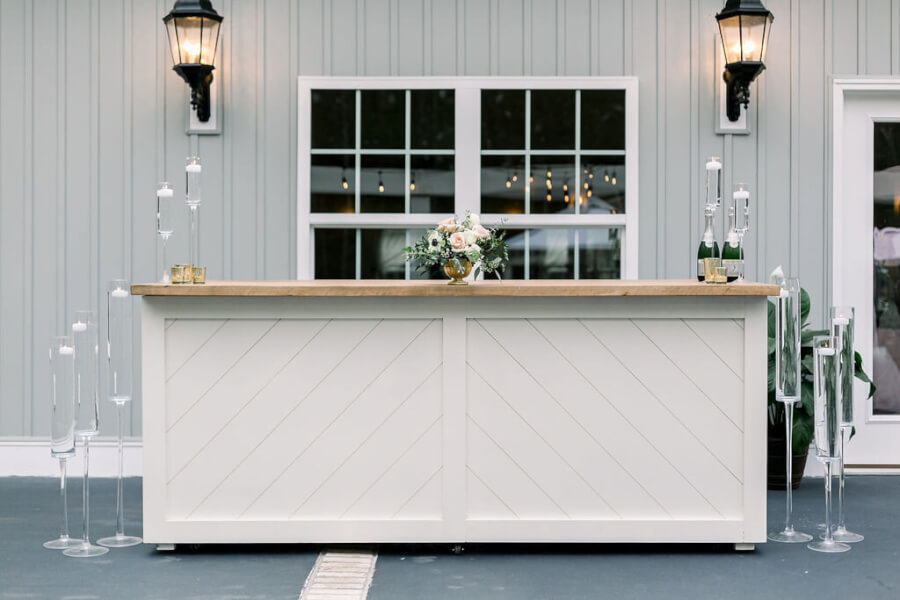 White Shiplap Bar