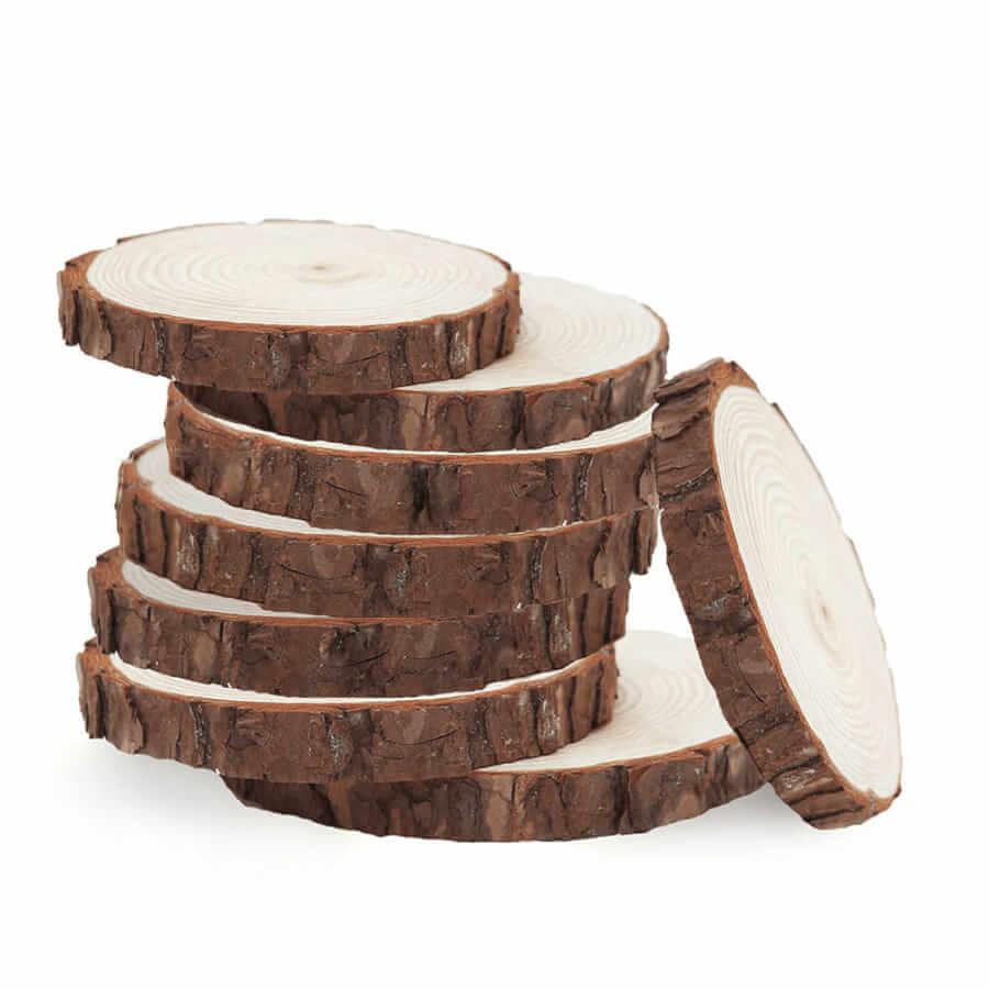 Natural Wood Round Slabs
