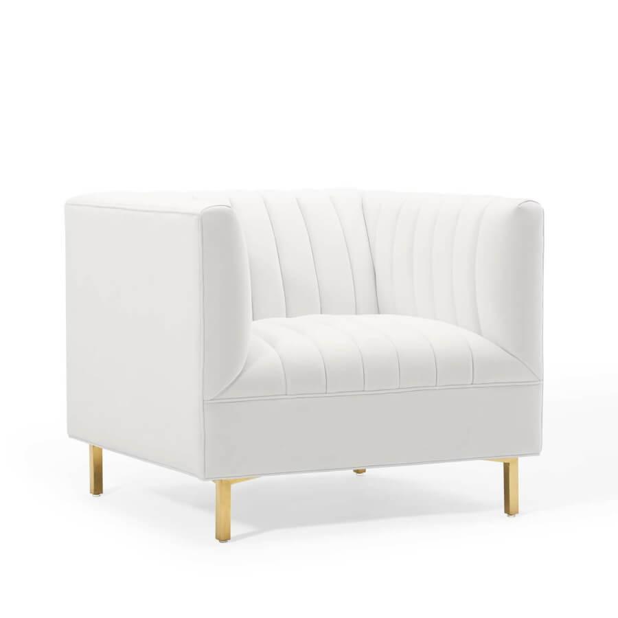 Classic Mod White Armchair