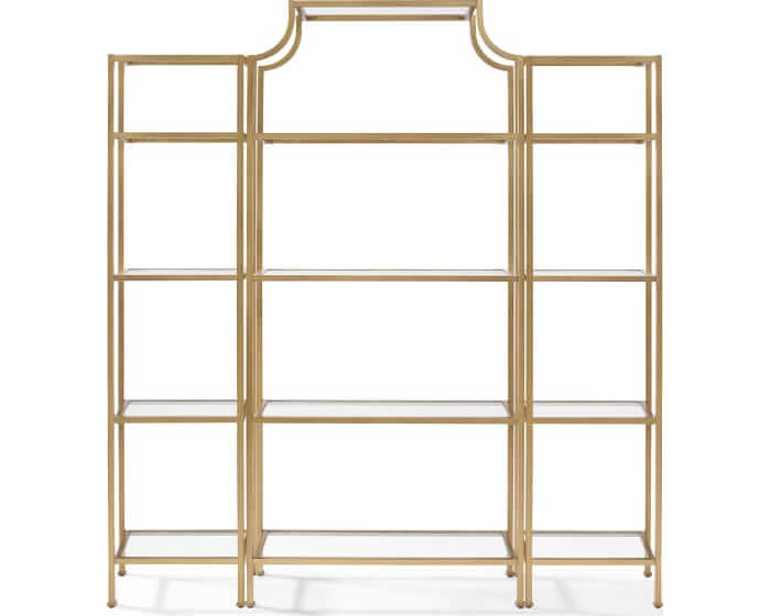 Gold Etagere Back Bar Display