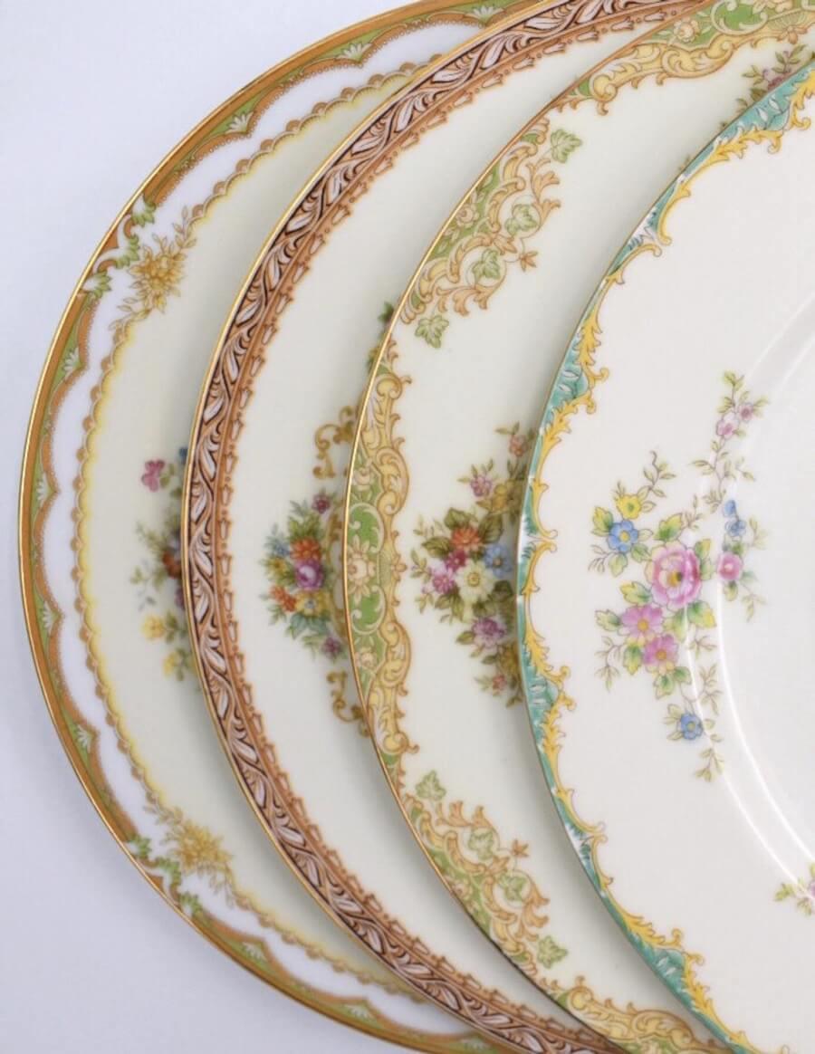 Vintage Mismatched Dinner Plates