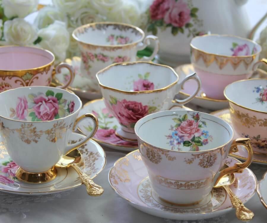 Vintage Teacups & Saucers