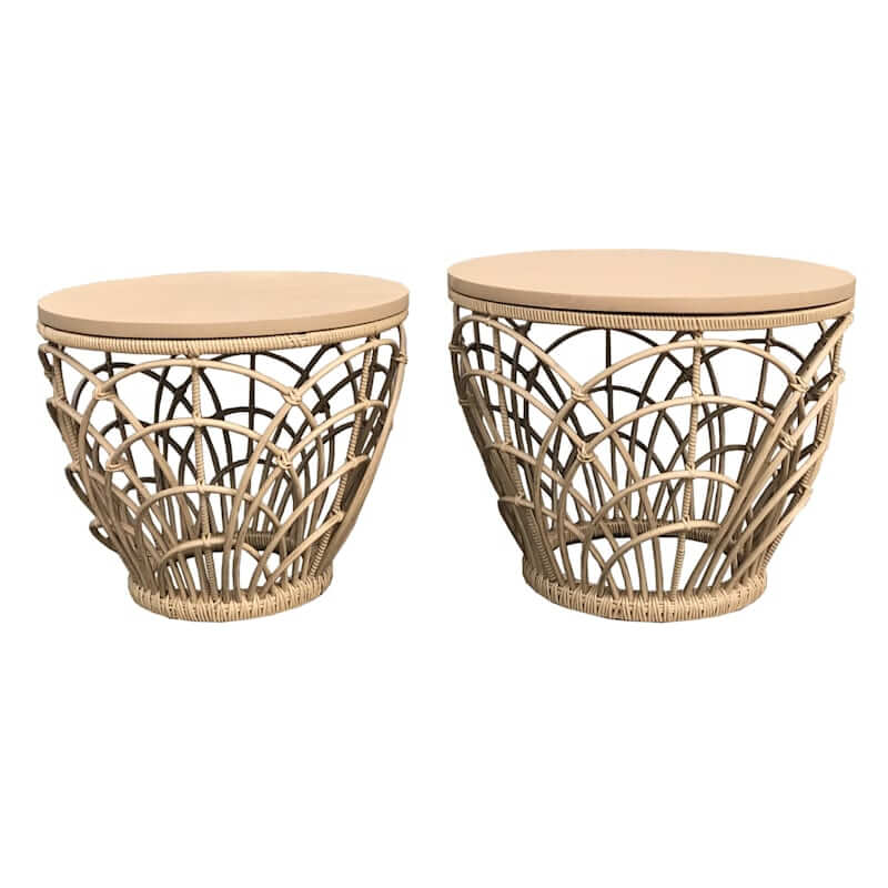 Boho Bamboo Side Tables
