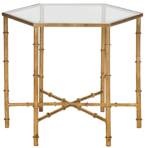 Gold Bamboo End Tables