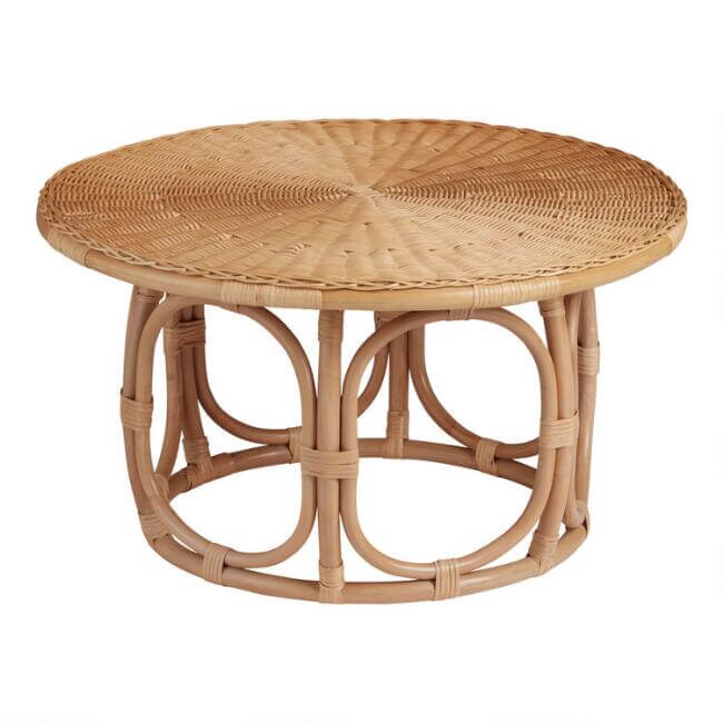 Boho Rattan Coffee Table