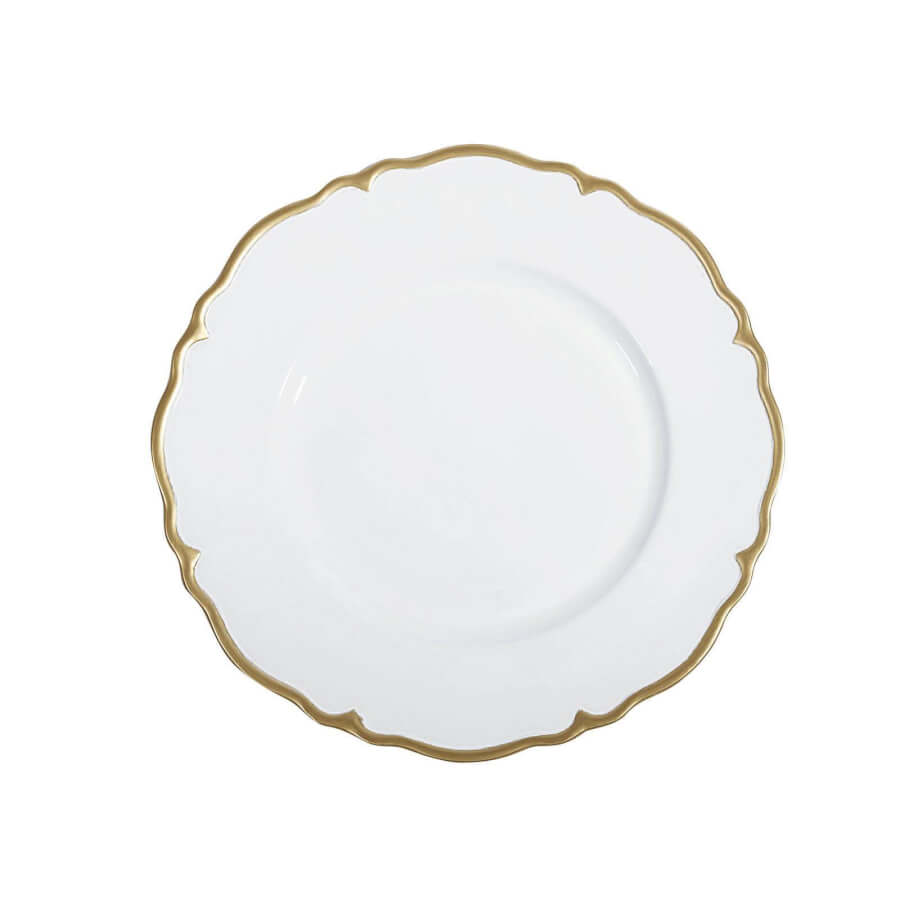 White Gold Scallop Charger