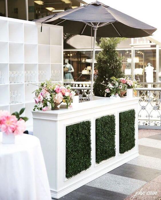 White Boxwood Bar