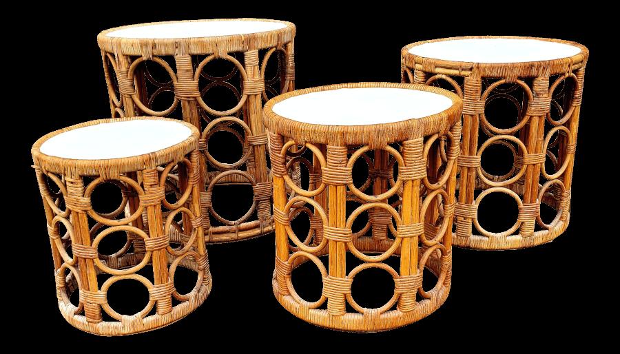 Boho Bamboo Side Tables