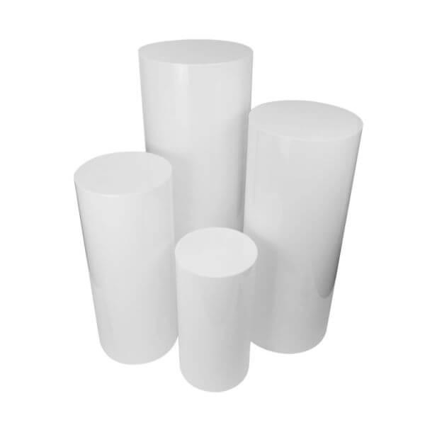 Round White Columns