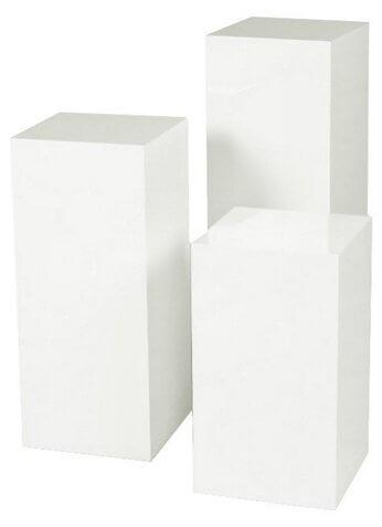 White Square Pedestals